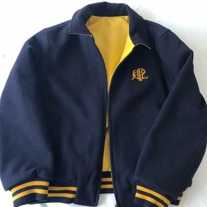 Polo Sport Reversible Wool Coat Blue/Yellow Large